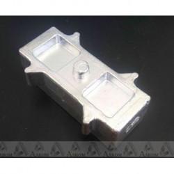 Проставка рессора-мост УАЗ Буханка 40х45х120 мм алюминий