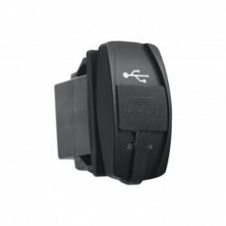 Розетка USB 3,1A  дизайн Переключатель, с крышкой