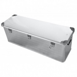 Ящик алюминиевый РИФ усиленный с замком 1176х385х412 мм (ДхШхВ)