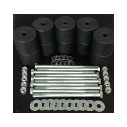 Боди лифт комплект 50 мм УАЗ Патриот капролон (d 60 мм) с крепежом (10 болтов М12x200) чёрный цв.