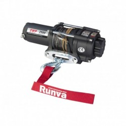 Лебёдка электрическая 12V Runva 2500A lbs 1140 кг (синтетический трос)