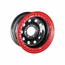 Диск усиленный Тойота Ниссан стальной черный 6x139,7 8xR16 d110 ET-19 с бедлоком (красный)