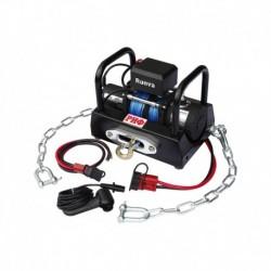 Лебёдка переносная РИФ 5000SR c площадкой на цепях и проводами (в сборе)