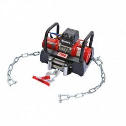 Лебёдка переносная РИФ 9.5XS c площадкой на цепях и проводами (в сборе) корот. барабан, стальн. трос