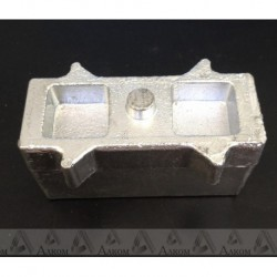 Проставка рессора-мост УАЗ Хантер/Патриот 60х55х120 мм алюминий
