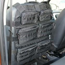 Органайзер на сиденье модульный Тип2 (6 подсумков на молнии оксфорд 600, черный), Tplus