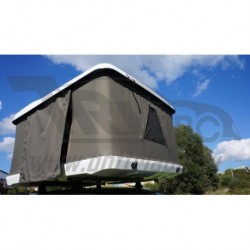 Палатка М4 на крышу автомобил белая 225x140x45 см