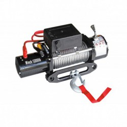 Лебёдка электрическая 12V Electric Winch 12000 lbs 5443 кг (чугунный клюз)